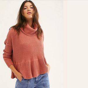 Free People NWT Layer Cake Sweater Turtleneck Knit